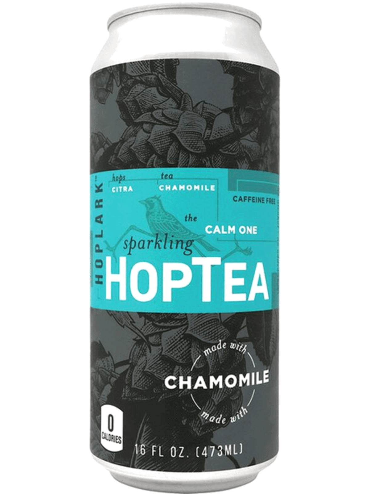 Can of hop tea on white background