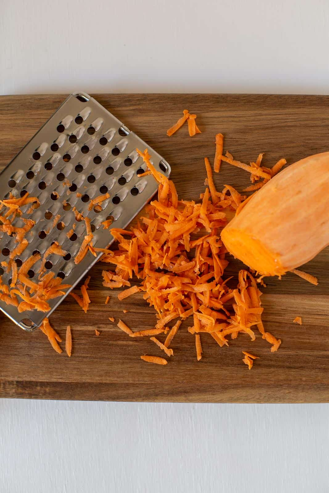 sweet potato shredded with box grater