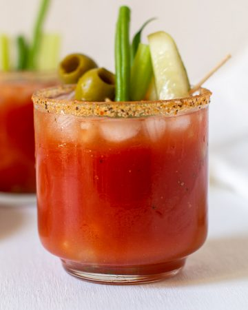 Spicy Bloody Mary with Jalapeno Infused Vodka