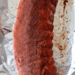 full rack of seasoned ribs