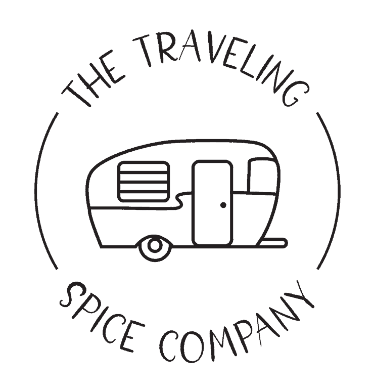 traveling spice company text logo