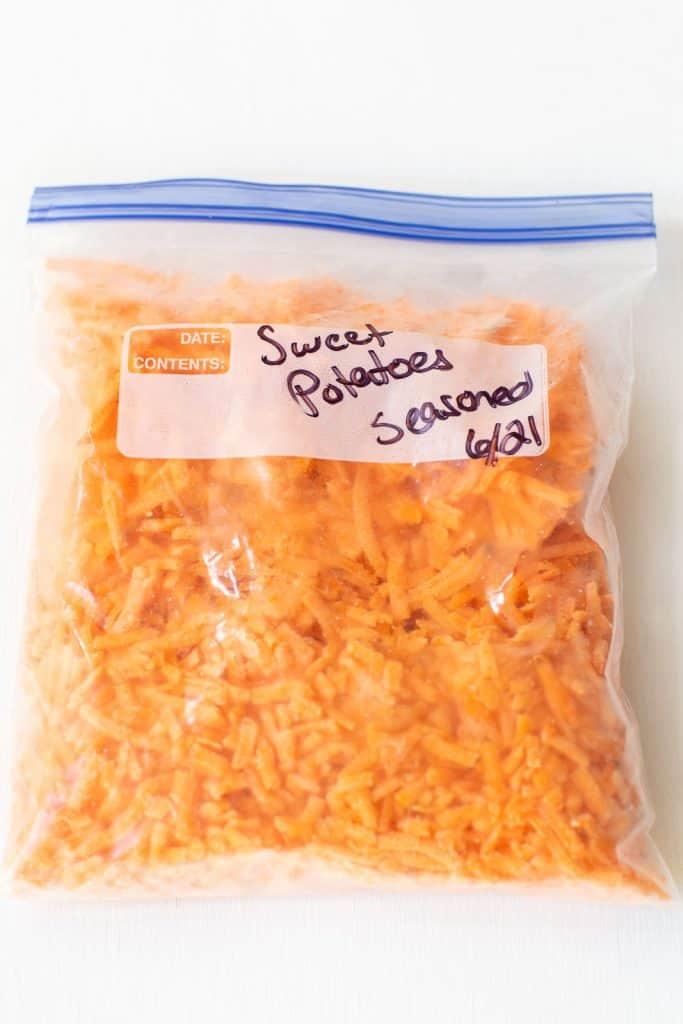 bag of frozen shredded sweet potatoes