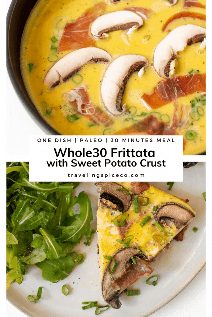 graphic with plate of egg frittata