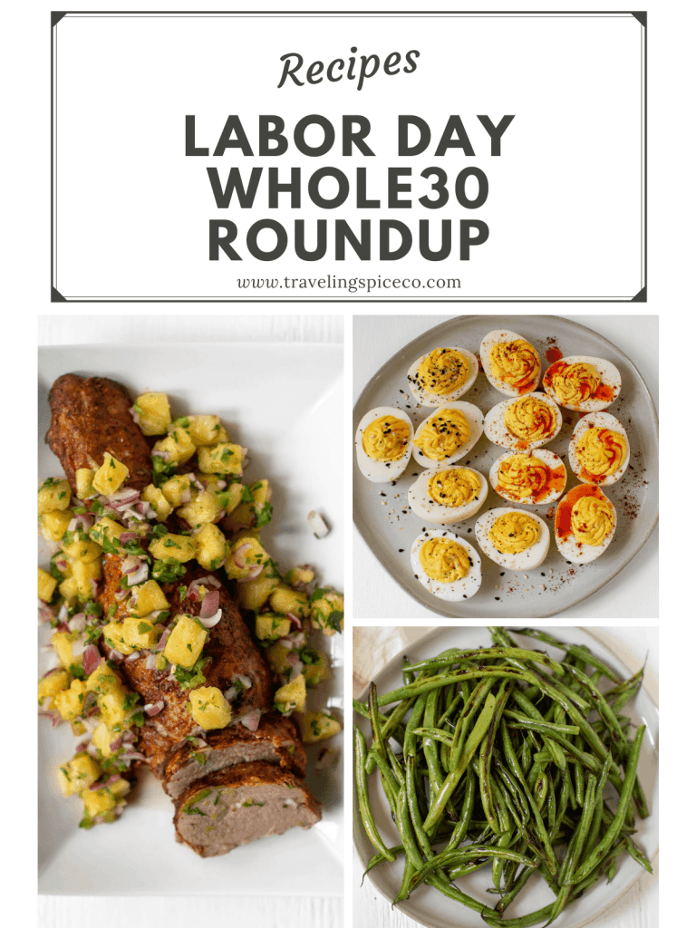 pinterest graphic of several whole30 side dishes