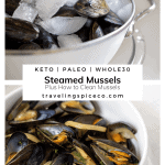 pinterest graphic for steamed mussels