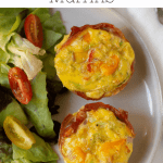 Pinterest graphic for egg muffins