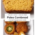 Pinterest graphic of paleo cornbread muffins