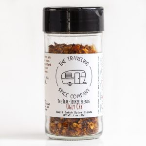 A jar of The Traveling Spice Co Ugly Cry spice
