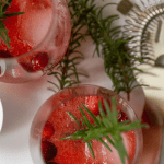 Pinterest Graphic for Cranberry and Bourbon Cocktail