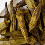 Pinterest graphic air fryer fried okra