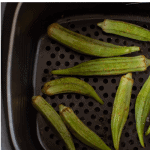 Pinterest Graphic of Air Fryer Fried Okra