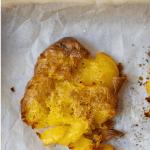 Pinterest Graphic of Crispy smashed potatoes