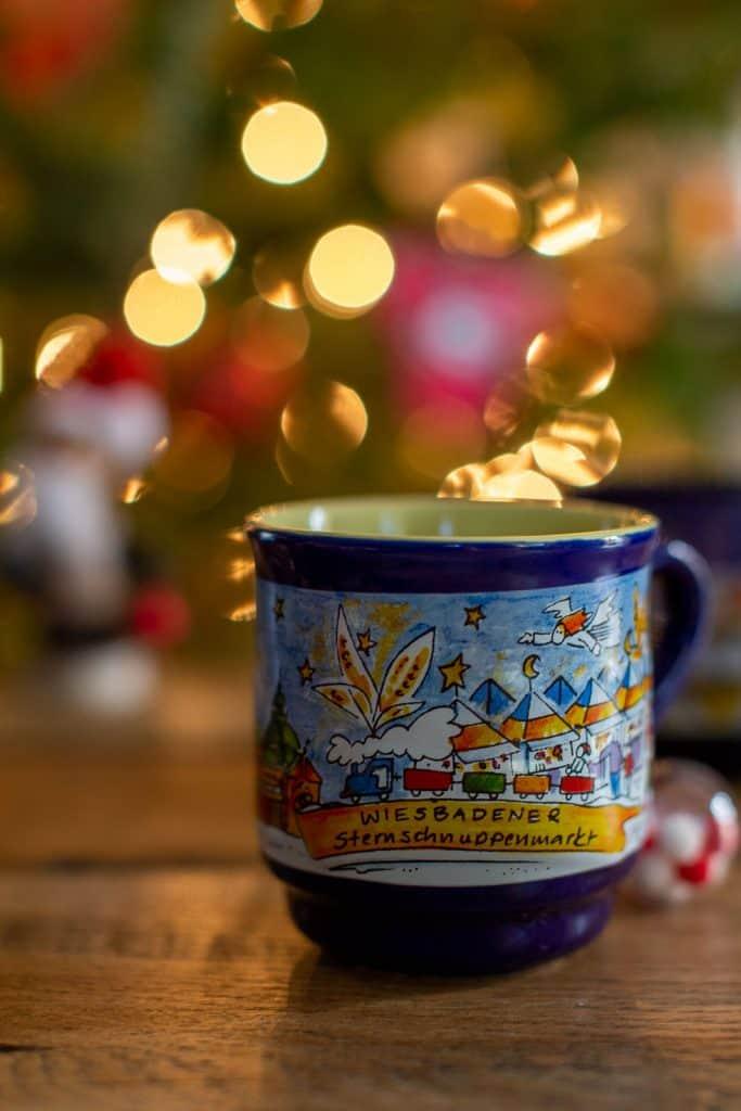 German Christmas market mulled wine mug.
