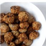 Pinterest graphic Whole30 Air Fryer Meatballs