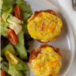 Pinterest Graphic of Whole30 egg muffins