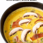Pinterest Graphic of Whole30 frittata with sweet potato crust
