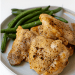 Pinterest Graphic of sheet pan chicken thighs