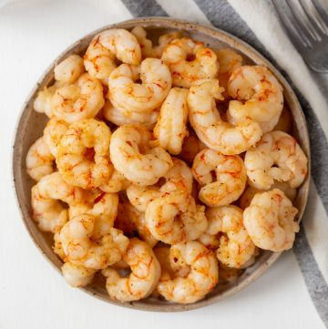 plate full of cooked shrimp