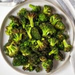 plate of cooked broccoli